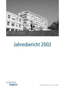 Jahresbericht-Uniklinik-Balgrist-2002