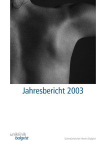 Jahresbericht-Uniklinik-Balgrist-2003