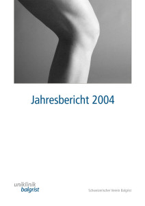 Jahresbericht-Uniklinik-Balgrist-2004