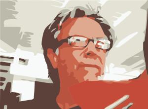 David Carson (Illustration: dunkelweiss)
